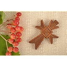 Mens Cross Pendant Cross Necklace Wooden Jewelry Handmade Accessories