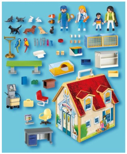 playmobil 4374 veterinaria cl nica malet n. Black Bedroom Furniture Sets. Home Design Ideas
