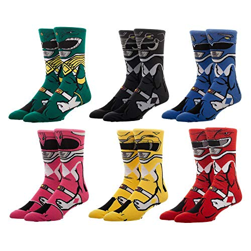 Exclusive Limited Edition Power Rangers 6 Pack Socks Gift Box Set