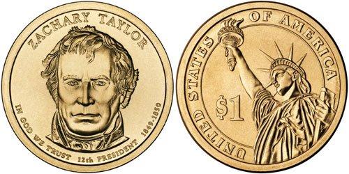 1 Coin Zachary Taylor Dollar. 2009-P Pres