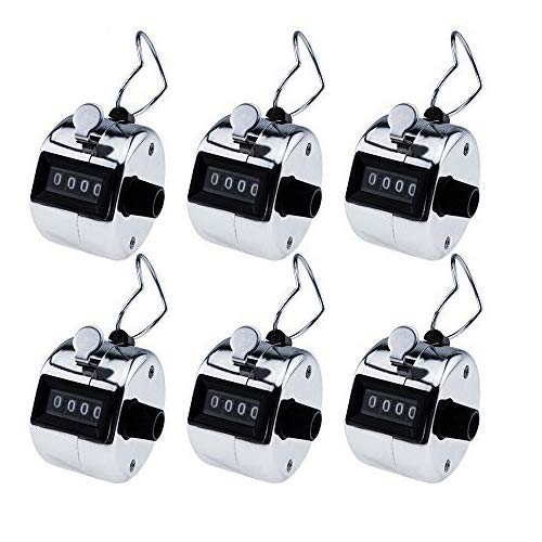 - Mechanical Tally Counter Handheld 6 Pack,Horsky Digit Number Lap Counter Manual Clicker with Finger Ring Sliver