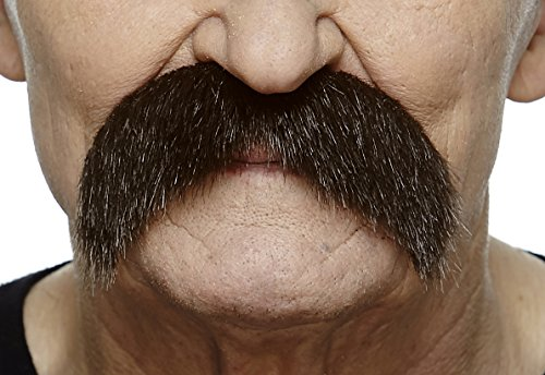 (Mustaches Self Adhesive Fake Mustache, Novelty, Walrus False Facial Hair, Costume Accessory for Adults, Costume Accessory for Adults, Brown)