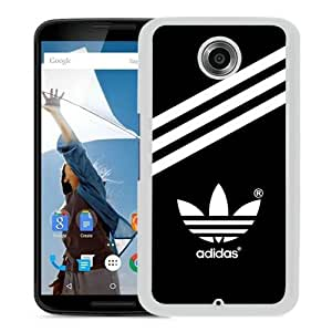 Fashionable And Unique Designed Case For Google Nexus 6 With Adidas 20 White Phone Case