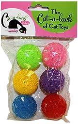 Cat-A-Lack 6-Piece Multi Color Bell Balls for Pets
