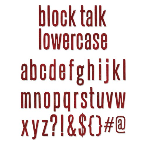 Sizzix Bigz XL Die by Tim Holtz, 6 by 13.75-Inch, Block Talk Lowercase Alphabet by Sizzix