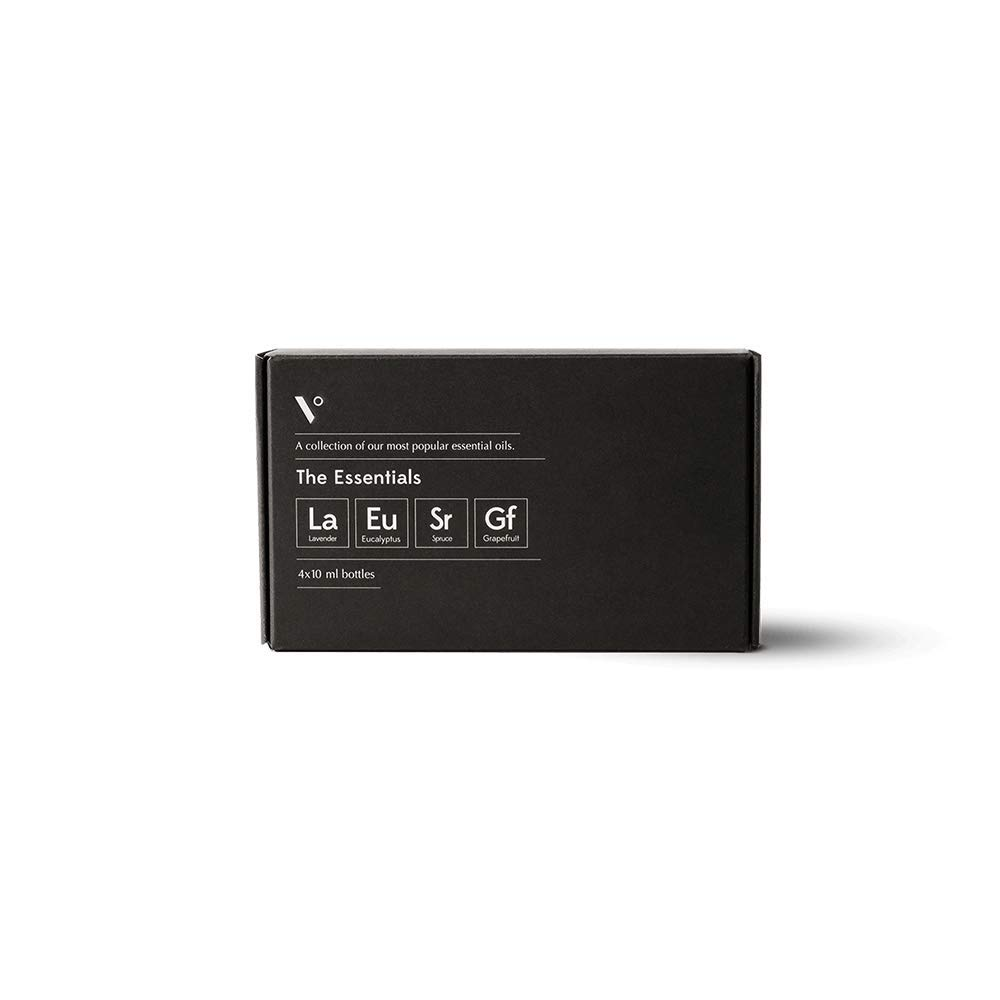 Vitruvi Essentials Bundle Aromatherapy Essential Oil Gift Set, Lavender, Eucalyptus, Grapefruit, Spruce, (4X 10ml Bottles) by Vitruvi