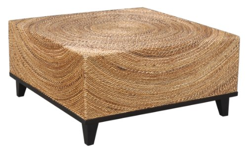 Crafted Home Decorative Elkton Natural Square Coffee Table, 35.5'' Length by 35.5'' Width by 18.5'' Height, Tan by Crafted Home