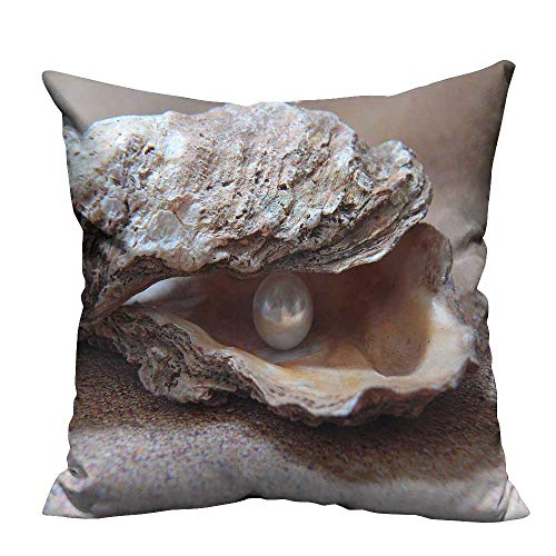 Print Bed Pillowcases The Pearl Mussel Washable and Hypoallergenic 19.5x30 inch(Double-Sided Printing)