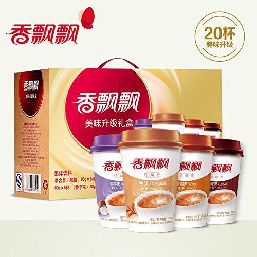 China Good Food Delicious upgrade Instant milk tea(香飘飘奶茶 原味+麦香+香芋+咖啡x5杯)Black Tea Naicha 下午茶 奶茶粉 by China Good Food
