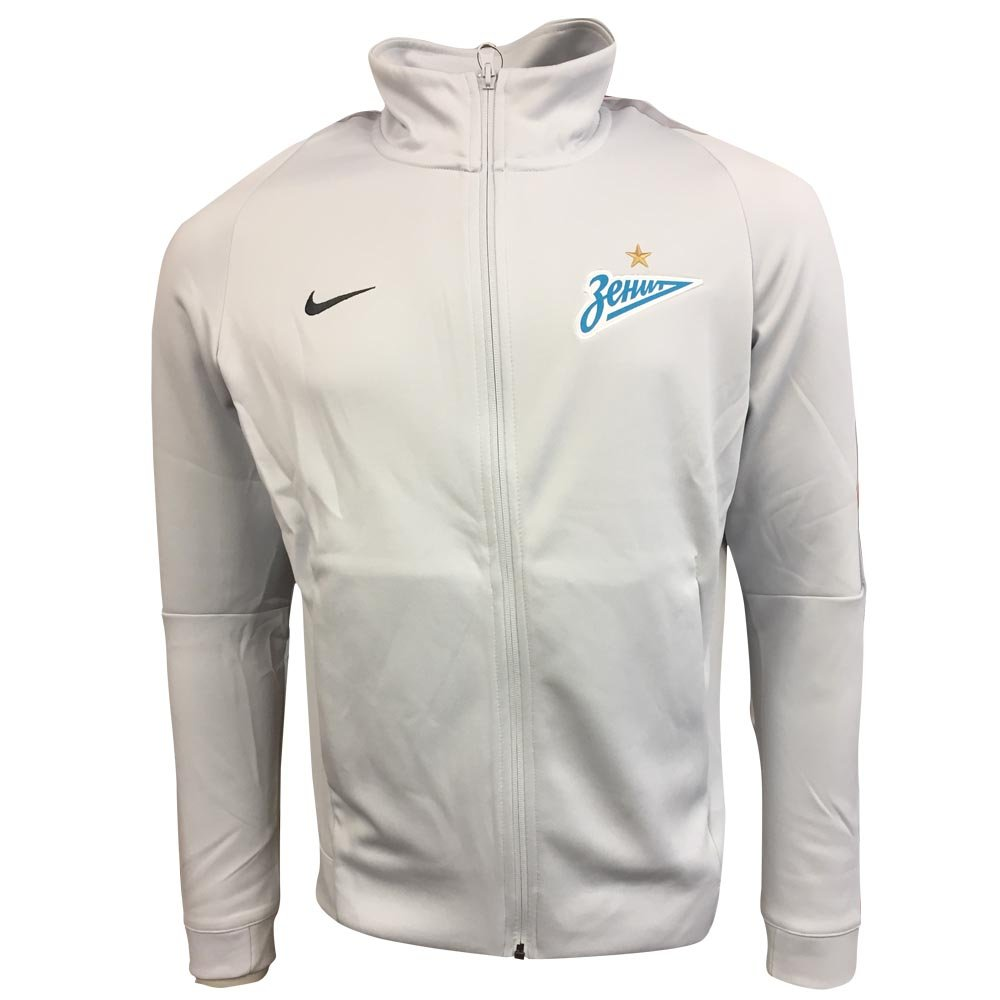 2017 2018 Zenit St Petersburg Nike Authentic Franchise Jacket (Platinum)