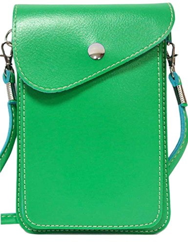 iPhone 6 Plus Case,S6 Edge Case,Dteck(TM) Universal PU Leather Two Layers Mobile Phone Pouch for Apple iPhone & Samsung Galaxy Series and All Other Phones Under 6.3 inches (2 Two Layers Green)