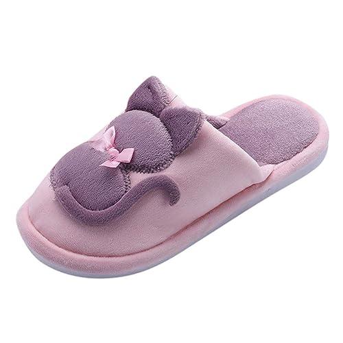 Zapatillas De Casa Mujer Pantuflas de Algodón para Mujer ...