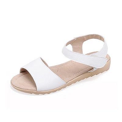 Aisun Femme Confortable Bout Ouvert Scratch Sandales
