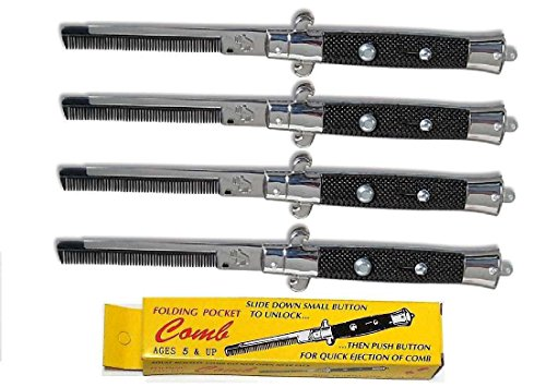 RI Novelty Switch Blade Combs 4 Per ()