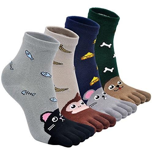 cute cotton kids toe socks cartoon animal