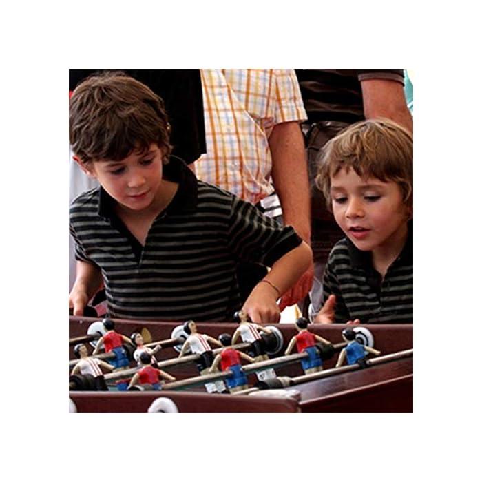 51QjtF3u04L SET SET DE JUEGO VERSÁTIL: la mesa de futbolín del tamaño de una competencia brinda diversión en cualquier entorno, perfecta para salas de juegos en el hogar, salas de juegos y otras áreas de entretenimiento, brinda una mejor experiencia de juego. DISEÑO AMIGABLE PARA EL JUGADOR: cuenta con 8 filas para permitir 4 filas por equipo, 11 jugadores rojos y 11 jugadores blancos, así como un portavasos en cada extremo para mantenerse hidratado cuando la competencia se calienta. H MANIJAS ECONÓMICAS: Las barras de barra tienen agarres cómodos para controlar mejor la pelota, incluidas 2 bolas que se deslizan sobre la superficie lisa y sin fricción para esa goa ganadora del juego.