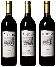 Albertina Wine Cellars Mendocino All Cabernet Sauvignon Wine Mixed Pack, 3 x 750 mL
