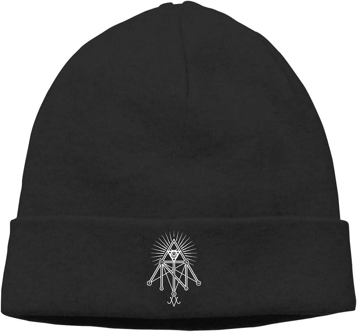 Illuminati Occult Geometric Satanic Men Women Beanie Hat Knitted Beanie Knit Beanie