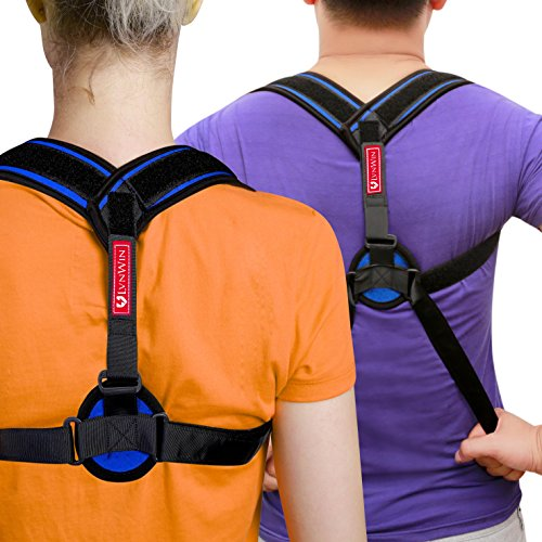 Posture Corrector Clavicle Support Brace Adjustable Figure 8 Back Medical Device to Improve Bad Posture, Thoracic Kyphosis, Shoulder Alignment, Upper Back Pain Relief for Men and Women