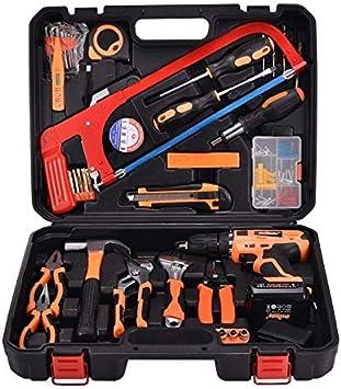 STT-052B multifunción del hogar 52 piezas de reparación del electricista traje Taladro Caja de herramientas Nuevo 12V de litio eléctrica: Amazon.es: Bricolaje y herramientas