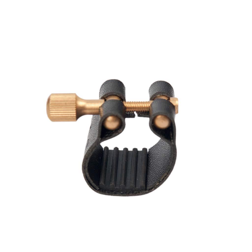 D DOLITY Ligature Fastener Plastic Cap Saxophone Protect Cap for Saxophone Accessory Soprano Black