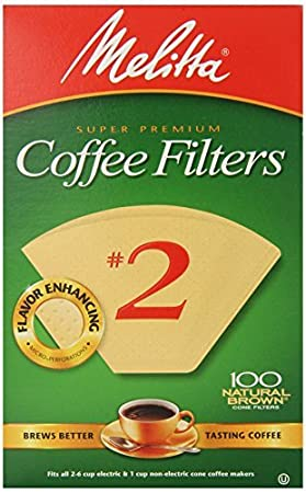 Amazon.com: Melitta 612412 # 2 Marrón Natural Cono Filtros ...