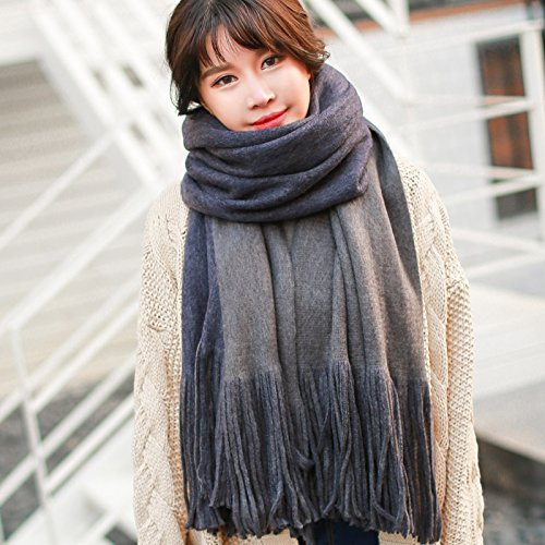DIDIDD Female Winter Scarf Shawl Thickened All-Match Color,Grey by DIDIDD