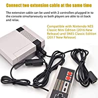 Ankey 2-Pack 10ft/3M Extension Cable for Nintendo NES/SNES Classic Mini Edition Controller, Extender Power Cord Cable for NES Classic Mini Edition 2016 and SNES Classic Edition 2017 Black