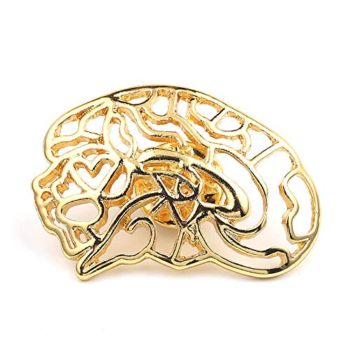 Lannmart Unique Gold Color Neurologist Brooch Medical Brain Nerve Lapel Pins Jewelry Anatomical Gifts for Doctors Nurse Medical Students