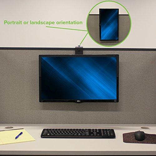 NavePoint Hanging Single Monitor Office Cubicle Mount Bracket Adjustable Hanger 17-32'' x2