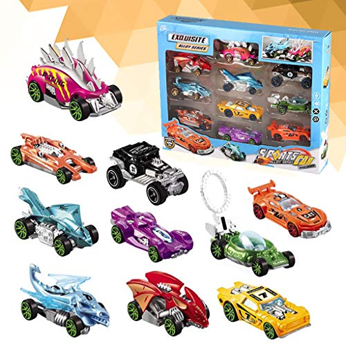 Slinky Dog Case - Hefu ☪Kids Toys Simulation Sliding Alloy Racing Car 10 Multi-Color Model Small Sports for Children
