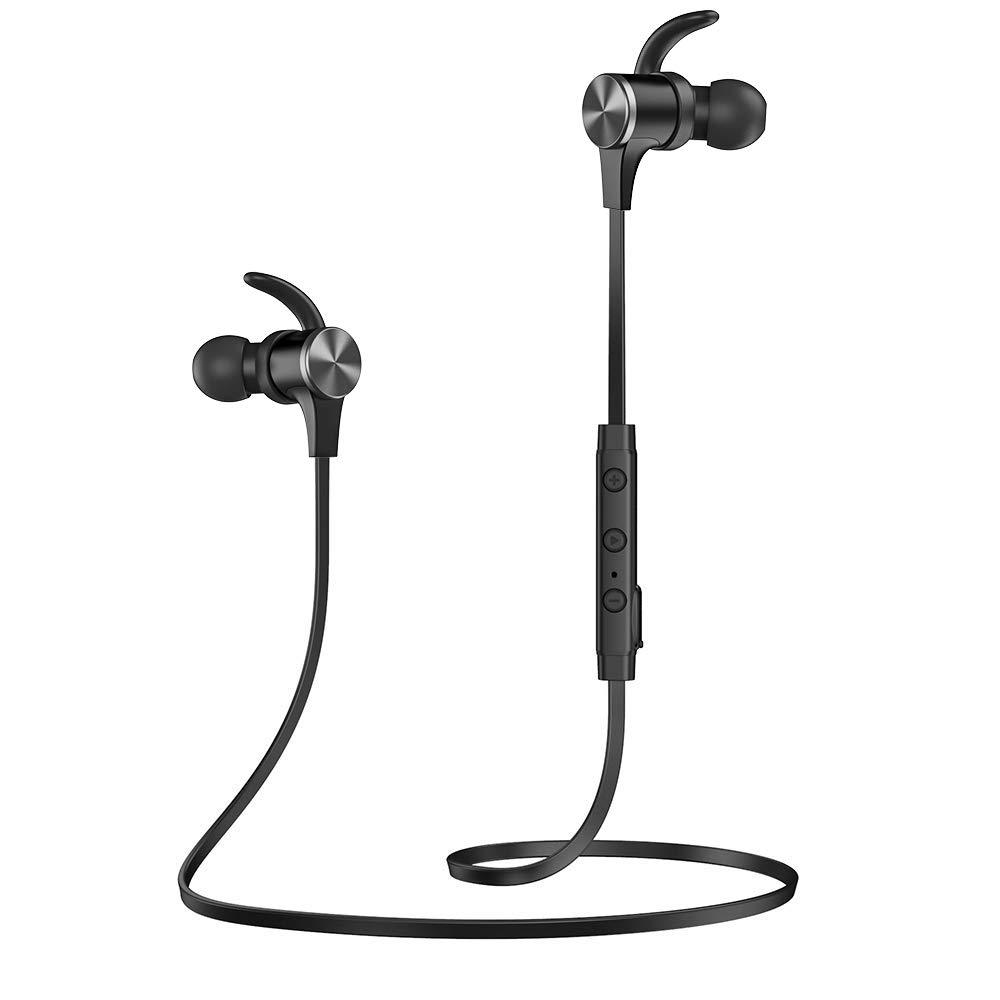 Wireless Earphones TaoTronics SOUNDELITE 71 Bluetooth 5.0 Sports Magnetic Earbuds 18 Hours Playtime aptX HD Audio Codec CVC 8.0 Noise Cancellation Mic IPX6 Waterproof Hands-Free Calls