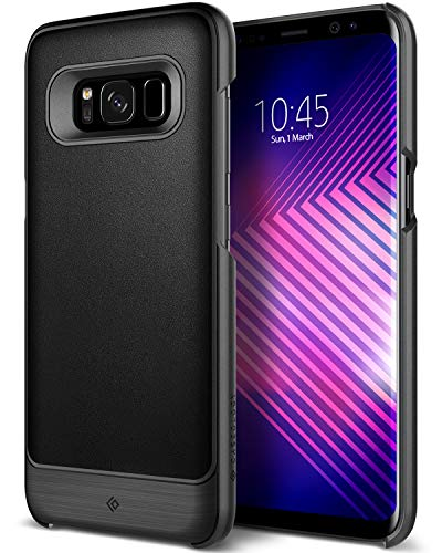 Caseology Fairmont for Galaxy S8 Case (2017) - Premium Leather - Black