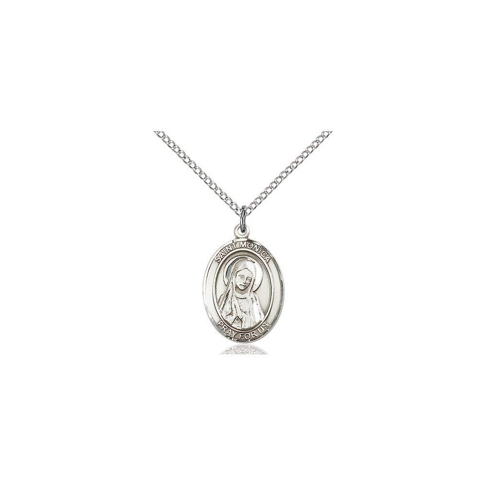 DiamondJewelryNY Sterling Silver St Monica Pendant