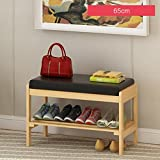 Household Shelves Storage Shoe Racks Modern Multi-storey Wooden Shelves 65cm ( Color : C )