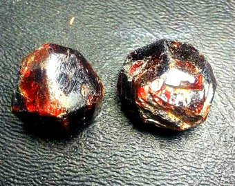 2pc 93ctw Red Pyrope-Almandite Garnets. High Quality Gemstone Rough, Parcel For Wire Wrapping/ Jewelry.