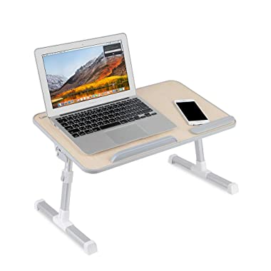 Laptop Stand for Desk,Bed Table,Laptop Lap Desk,Height Adjustable Laptop Stand,Desk Sofa/Bed Side Table,Lap Desk, Standing Desk Riser, Bed Desk - Birch