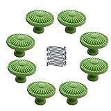 IdealDecor 8pcs Retro Estilo Sencillo Ronda tirador de puerta aleación de zinc clásico Cajón clóset Estantería clóset tirador de baño con tornillos, Verde