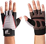 Training Gloves (Black - Small) - 100% Leather and Spandex Material - Ideal for Gym - Workout - Weightlifting - Weight Training - Biking - Cycling - Perfect for Men and Women - by Utopia Fitness