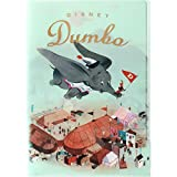 Japan Walt Disney Official Dumbo - Dumbo & Timothy Q. Mouse Blue A4 Clear File Multi Layers Assorted Color Organizer Paper Folder Character Classic Cover Poster Art Design Plastic Holder Document
