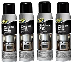 4x Bottle of Zep Commercial 14 oz Stainless Steel Cleaner Polish