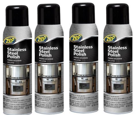4x Bottle of Zep Commercial 14 oz Stainless Steel Cleaner Polish by Zep