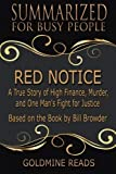 img - for Summary: Red Notice - Summarized for Busy People: A True Story of High Finance, Murder, and One Man's Fight for Justice: Based on the Book by Bill Browder book / textbook / text book