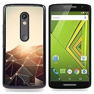 Jordan Colourful Shop - Polygon Shines Pattern For Motorola Verizon DROID MAXX 2 / Moto X Play - < Personalizado negro cubierta de la caja de pl??stico > -