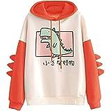 CRB Fashion Womens Hoodie Shirt Dinosaur Bunny Panda Bear Ears Plush Cute Cosplay Coat Girls Sweatshirt Top