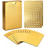 Playing Cards Luxury Waterproof 24K Gold Diamond Foil Poker Carta, Gold Playing Cards, Deck of Cards, Plastic Playing Cards, Waterproof Deck Cards