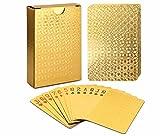 ALI LI Playing Cards Luxury Waterproof 24K Gold Diamond Foil Poker...
