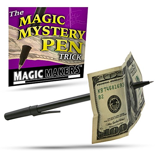 Magic Makers Magic Mystery Pen Trick - Pen Through Dollar Magic Trick (Magic Tricks Easy Toy)