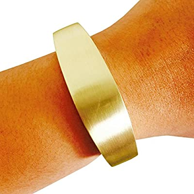 """Fitbit Bracelet for Fitbit Flex Activity Trackers - The TORY 6.1"""", 7"""" or 8.5"""" Inch Bangle Fitbit Bracelet (6.1"""" Brushed Gold)"""