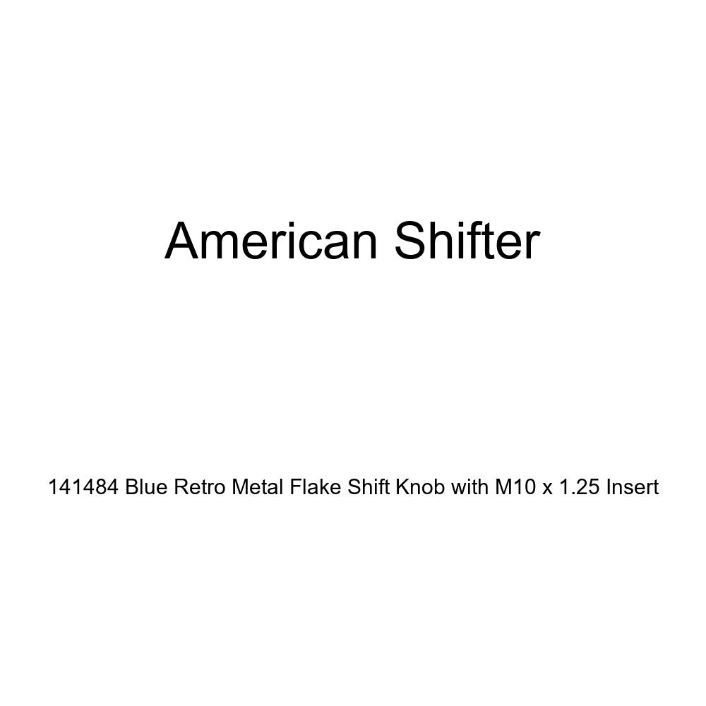 American Shifter 141484 Blue Retro Metal Flake Shift Knob with M10 x 1.25 Insert